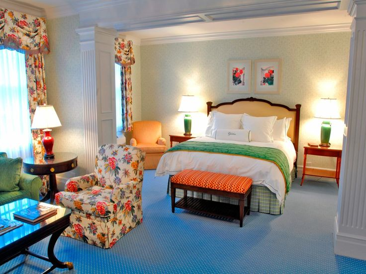 Gorgeous guest room at the Greenbrier