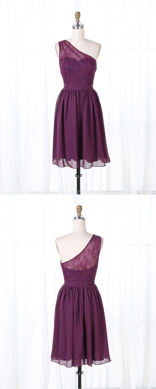 one shoulder short prom dresses, grape short homecoming dresses, cheap short prom dress under 50