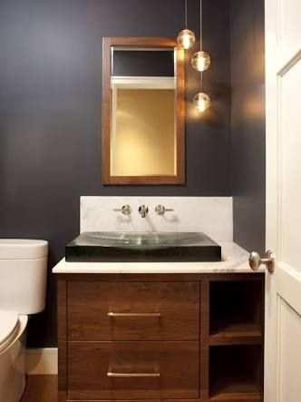 Image result for pictures of asymmetric pendant lights over bathroom ...