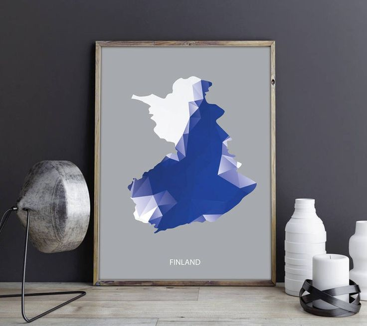Finland Art Finland Wall Art Finland Wall Decor Finland Photo Finland Print Finland Poster Finland Map Country Map Watercolor Map Country