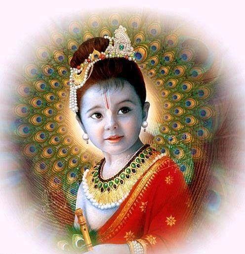 Cute Kanha Ji: Lord Krishna