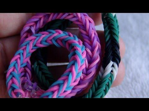 Как сделать браслет из резинок. Стиль Хвостик рыбки — Яндекс.Видео