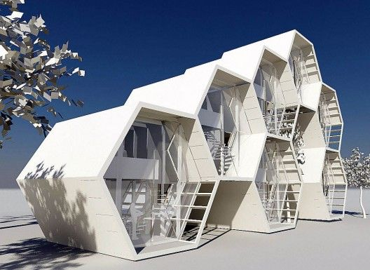 94 best hexagonal architecture images on pinterest for Architectural modular homes