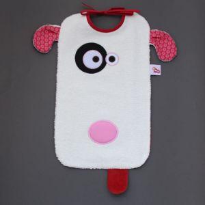 Maxi bavoir Chien - LaBavette. Aussi pratique que joli, ce malicieux bavoir protégera les vêtements des enfants à partir de 6 mois. Motif chien. Très pratique, très protecteur car il descend sur les genoux ou peut se glisser sous l'assiette pour une protection optimale. Finitions soignées Vendu dans une boîte, c'est un cadeau idéal, original, beau et si utile !  http://www.lilooka.com/fr/bavoir-labavette/1097-maxi-bavoir-chien-labavette.html