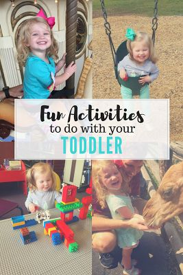 Lots of fun activities to do with your toddlers!