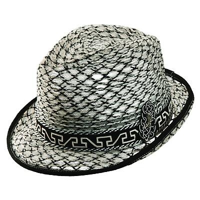 A truly striking hat, this fedora (made from a premium quality paper braid called shantung) is from the Spring/Summer 2012 Santana by Carlos Santana collection of men's hats.