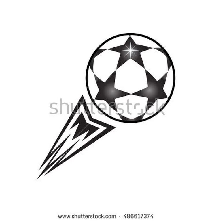 Soccer Ball With Tail Fire Flame, Fly Away. Winter European Championship Soccer Ball Stars Print. Europa Champions League Finale 2016/17 Match Ball Icon, Ball Banner. Soccer Ball Vector Euro. 2016 B&W - 486617374 : Shutterstock