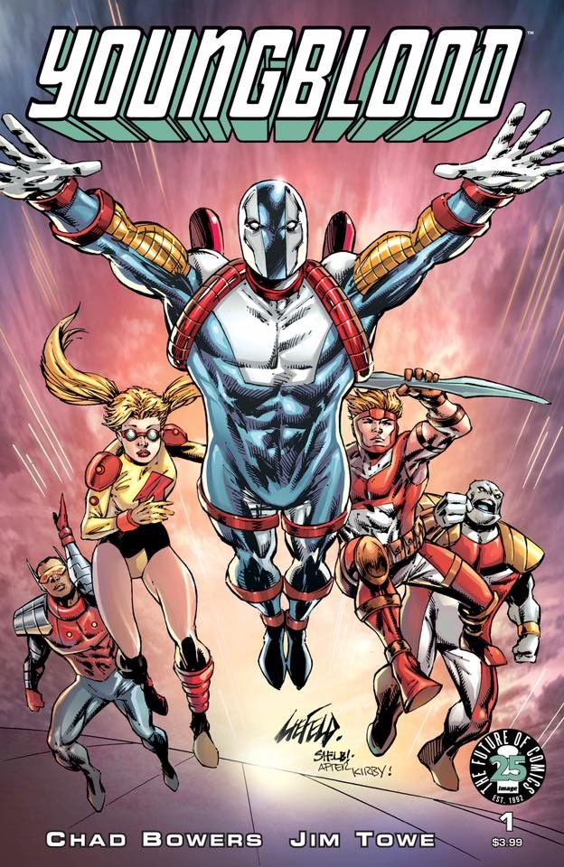 YOUNGBLOOD #1 EXCLUSIVE ROB LIEFELD VARIANT - JACK KIRBY INHUMANS HOMAGE - LIMITED TO 500 COPIES!
