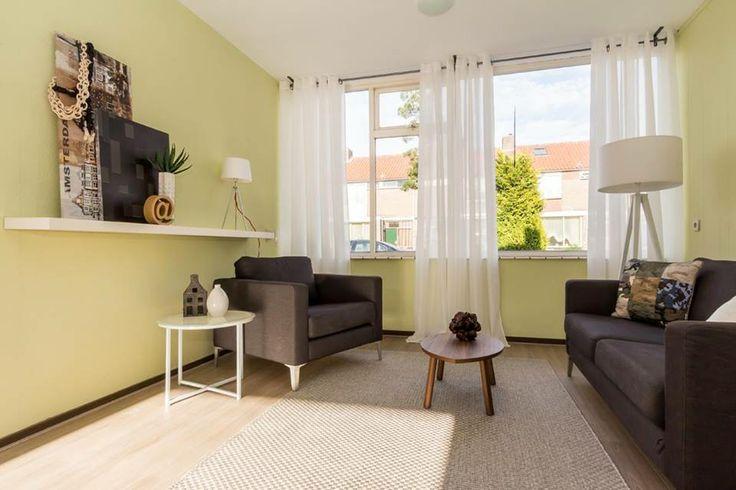 Kleuren Wanden Woonkamer : woonkamer Bloklaan 13 te Eindhoven. Een ...
