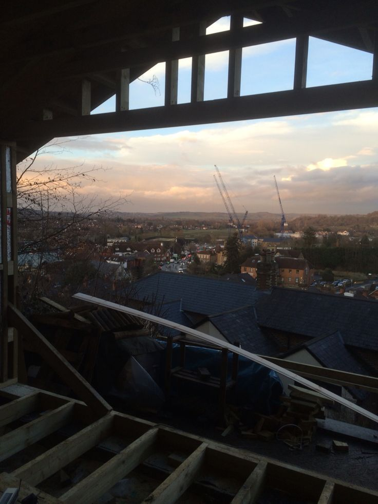 Outside Room overlooking Godalming town centre.