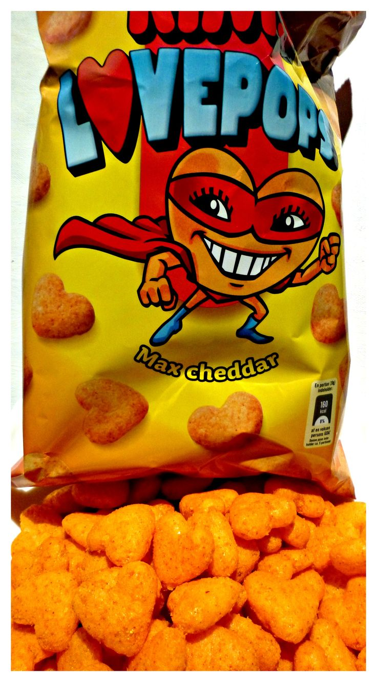 Love Pops - Kim´s heartshaped chips (Danish brand)
