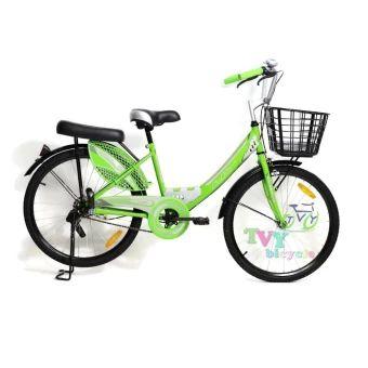 """ราคาถูก  LA Bicycle จักรยาน รุ่น 24"""" CITY STEEL RIM ( สีเขียว )  ราคาเพียง  3,100 บาท  เท่านั้น คุณสมบัติ มีดังนี้ ขนาดล้อ 24 แข็งแรงทนทาน& เฟรมรถทำจากเหล็กอย่างดี& พร้อมเบาะหน้าหลังแบบนุ่ม&"""