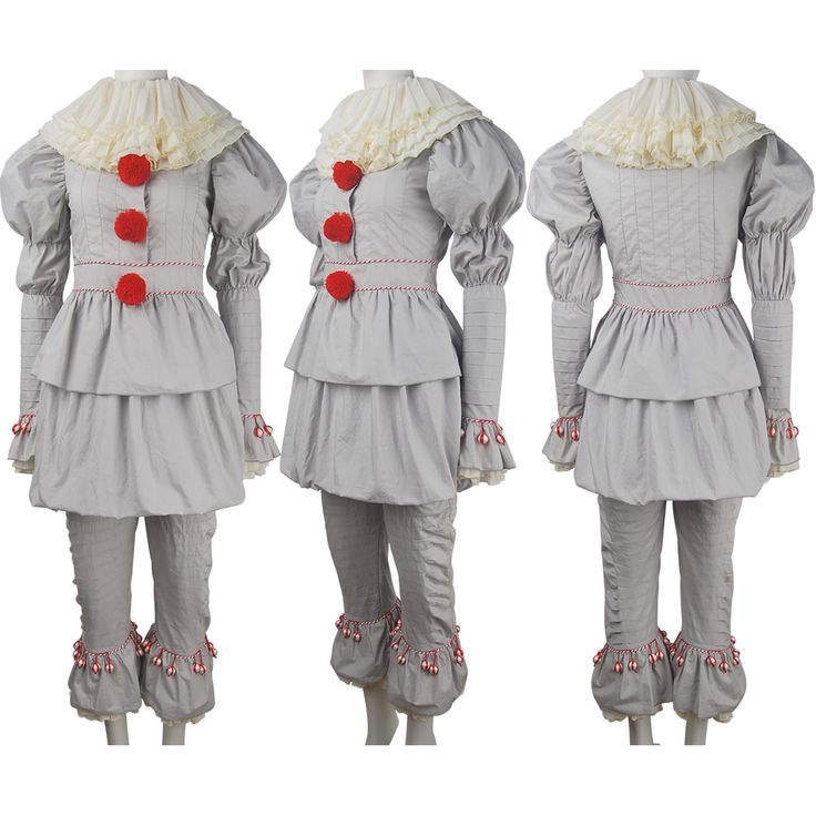 Stephen King's It 2017 film evil Pennywise cosplay halloween costume supervillain clown jester make-up carnival costume outfit toys gift unisex