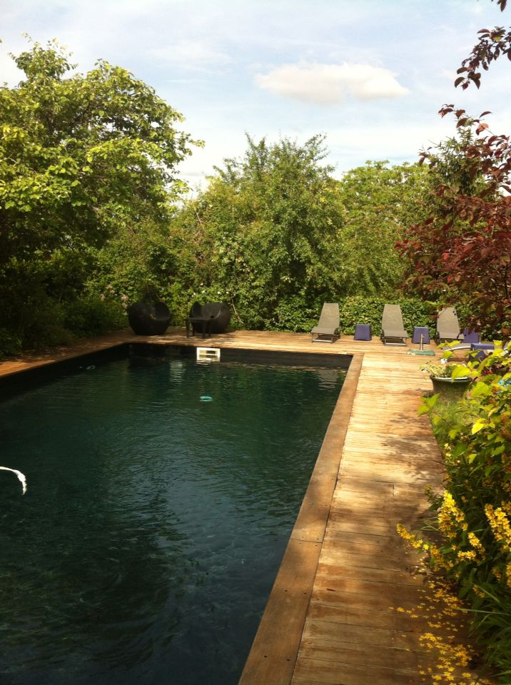 Les 25 meilleures id es de la cat gorie piscine liner noir sur pinterest liner pour bassin - Piscine eau noire besancon ...