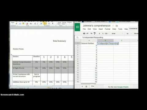 Google Docs for Progress Monitoring in Special Education - YouTube