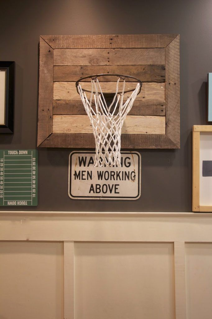 Pallet wood basketball goal - AWESOME jack would love this