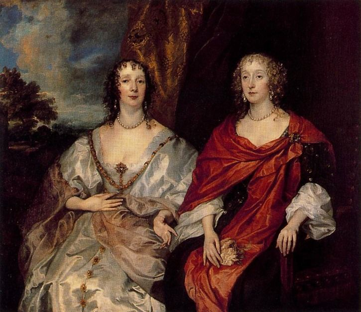 1630s (late) Ladies Anne Dalkeith, later Countess of Morton, and Anne Kirke by Sir Anthonis van Dyck