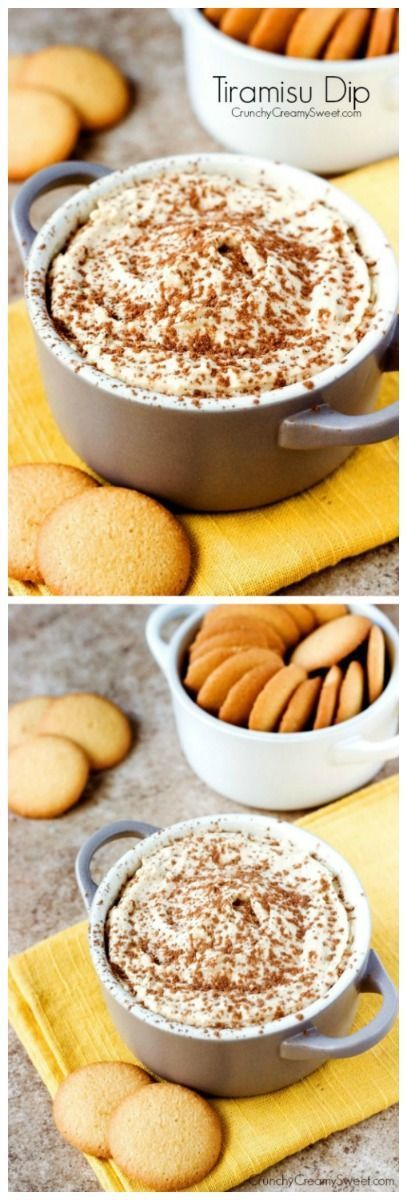 Tiramisu Dip - all of the delicious flavors of Tiramisu in one sweet and creamy dip! You will love this recipe!