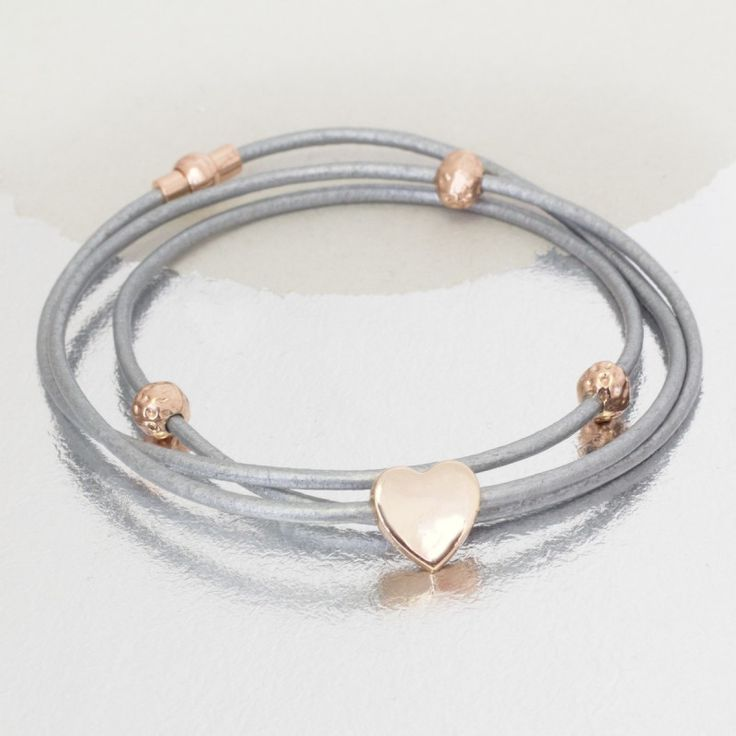 Alise personalised leather charm bracelet | hardtofind.