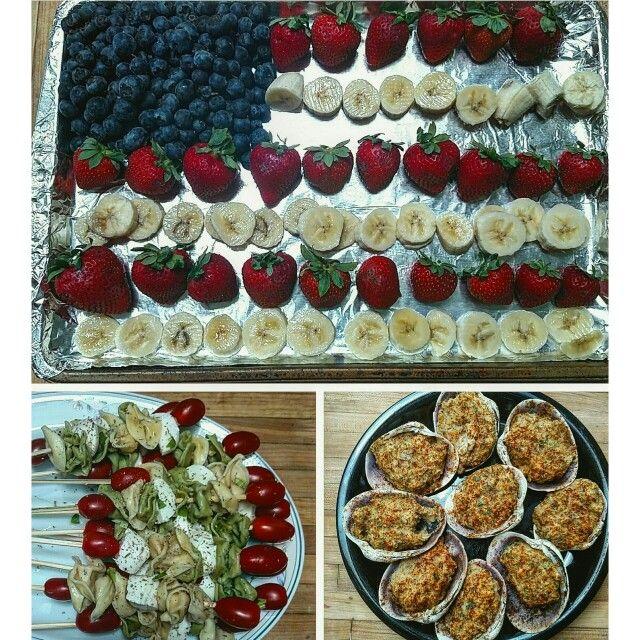 memorial day finger desserts