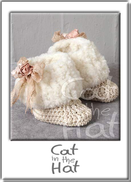 Βαπτιστικά μποτάκια Cat in the Hat