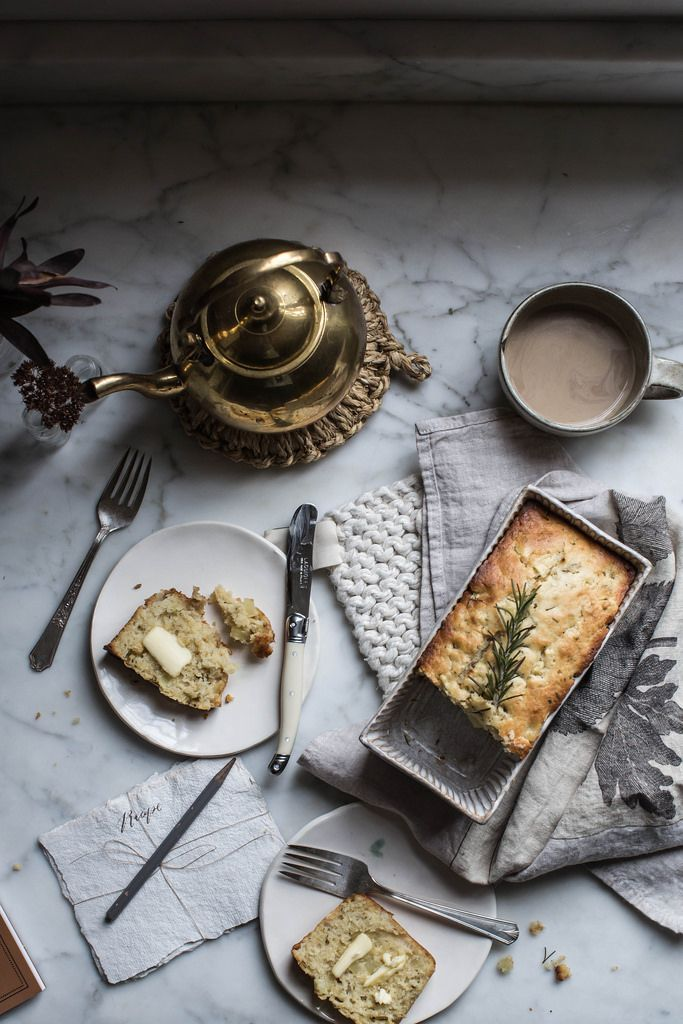 apple & rosemary buttermilk quickbread | on coming home