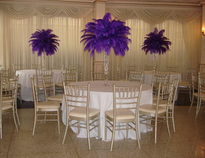 Best ostrich feather centerpieces ideas on pinterest