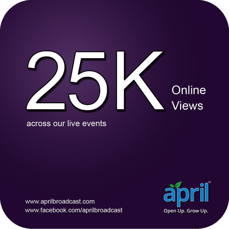 The Events we streamed out had over 25,000 views from