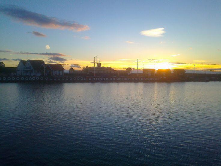 Sunset in Varberg, Sweden