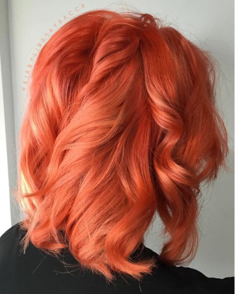 Image result for peach hair color