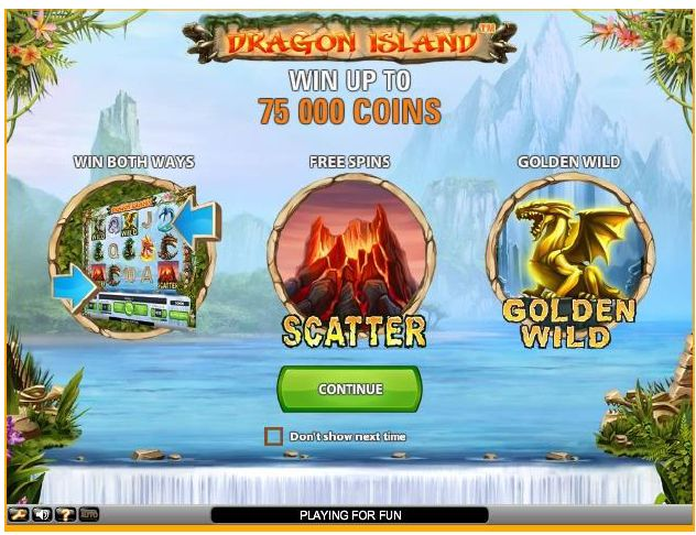 75 000 Coins can be yours in the Dragon Island video slot - https://www.wintingo.com