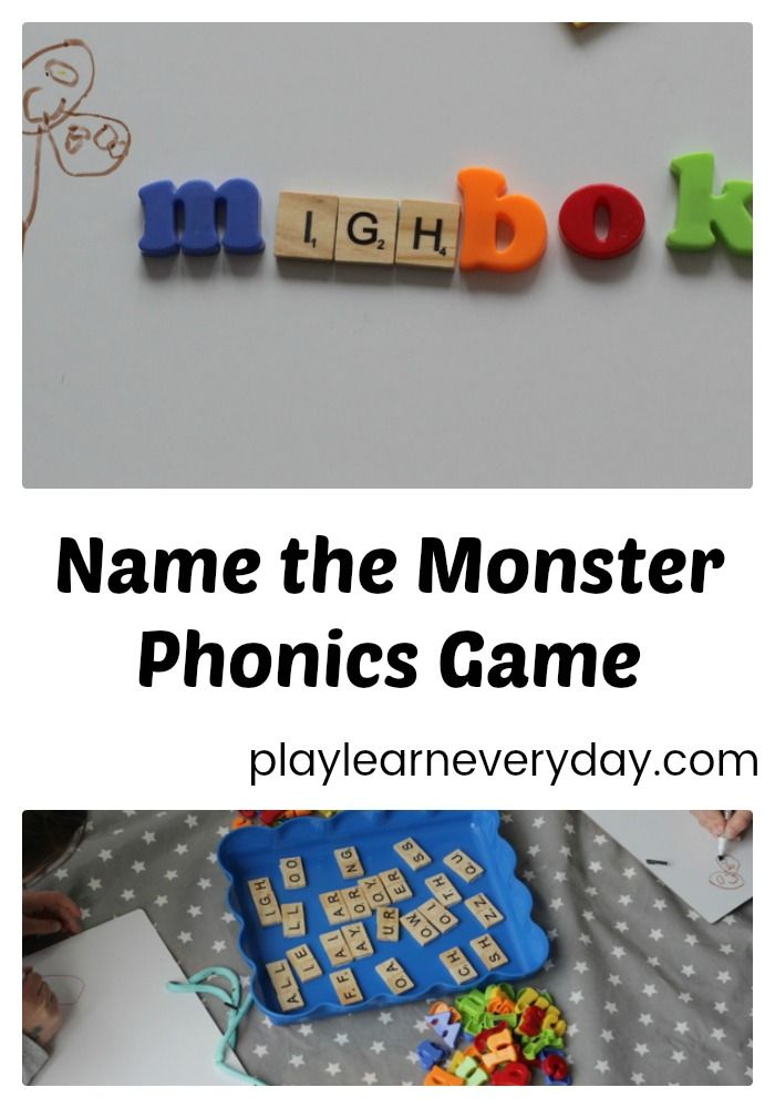A fun and easy game to play to help reinforce phonics knowledge of individual sounds, digraphs and trigraphs. #phonics #kidsactivities #playandlearn #learningthroughplay #monsters #learningtoread #reading #yearone #phonicsscreeingcheck