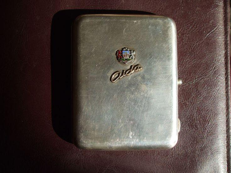 Antique Russia Latvia Silver АН 84 ЯД Cigarette case Coat Arms Enamel Gold       #InternationalSilver