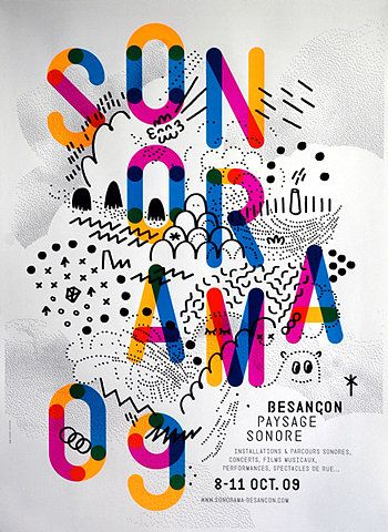 Sonorama - 2009 typography