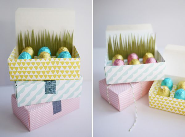 PRINTABLE MINI EASTER EGG TREAT BOXES