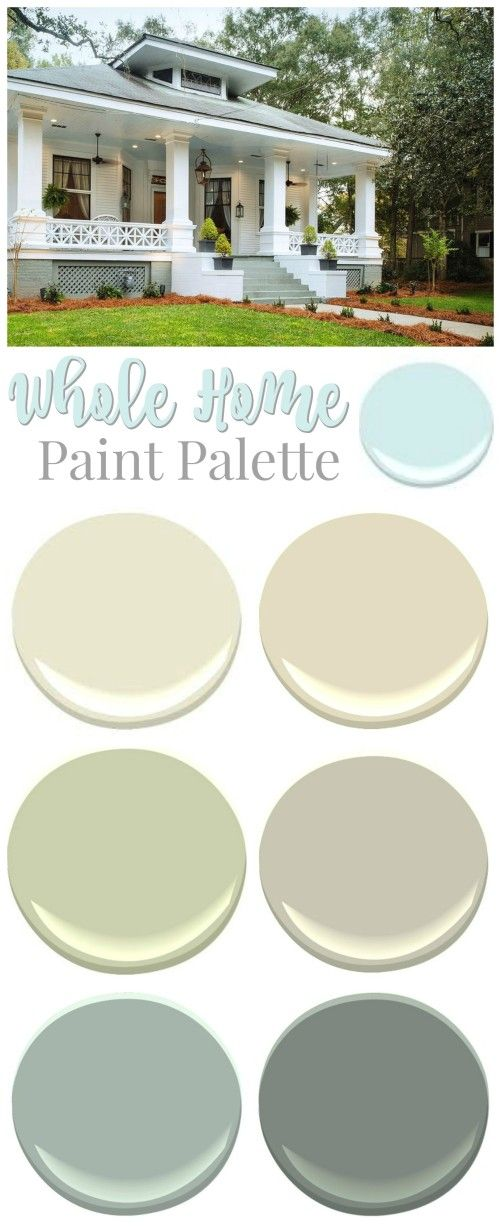 Southern Romance Idea House - a 1906 fixer upper home makeover - Paint palette, all brand and color sources listed.