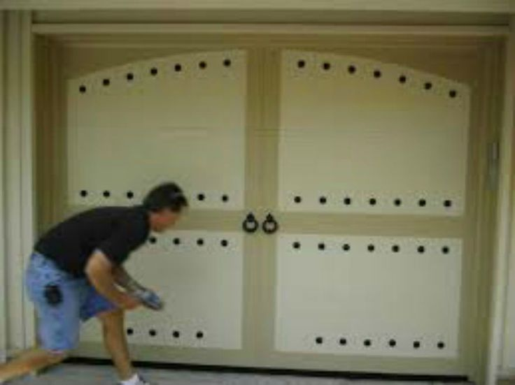 Magnetic Garage Door Decorative Hardware KIT Hinges Black Circles Carriage House