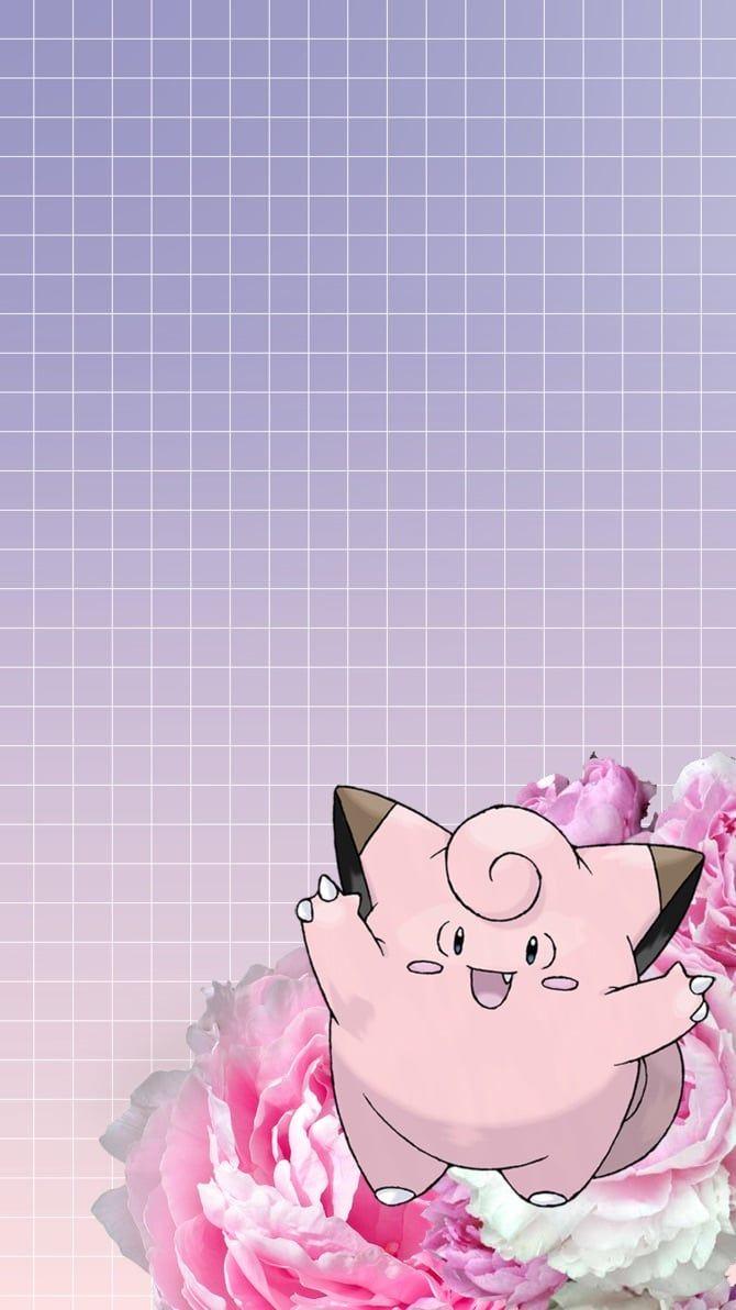Clefairy Pokemon Iphone Wallpaper