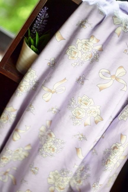 Lilla sløyfe bukett bottom T-skjorte Stoff strikket bomullsklut - Taobao