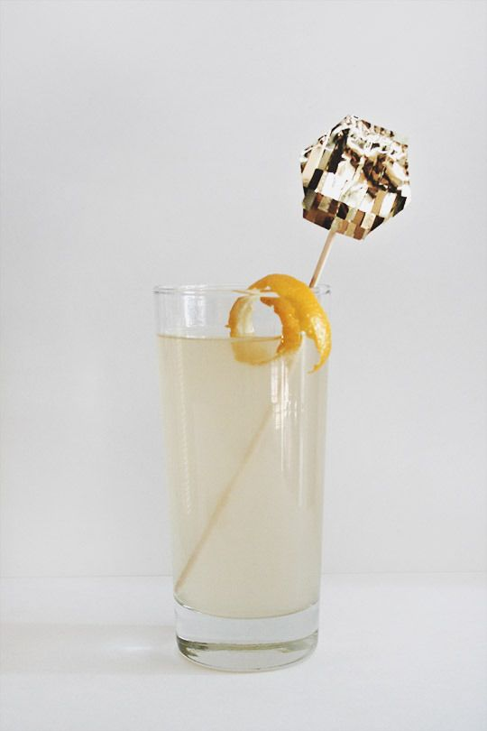 DIY // Gold Fringe Drink Toppers & A French 75