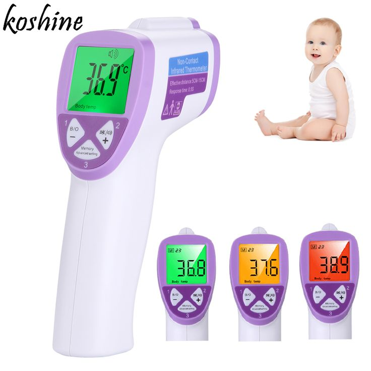[koshine]Digital Thermometer Baby Adult Non Contact Infared Thermometer Termometro Infrarrojo Measure Backlight Body Temperature #Affiliate