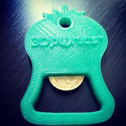 What do you think of our new branded 3D-printed 3Dponics bottle opener? #3Dprinting #branding