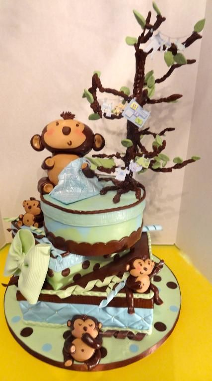 Cake Decorating Ideas | Project on Craftsy: Monkey Baby Shower
