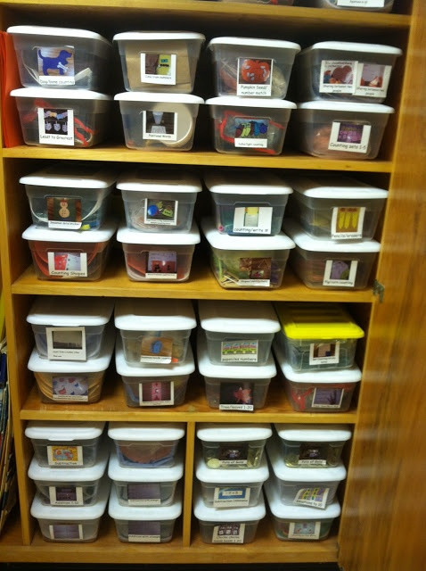 It's a Jungle Out There! A Kindergarten Blog: Organizing Math Centers