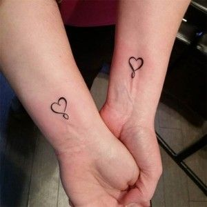 Matching Infinity Heart Tattoos