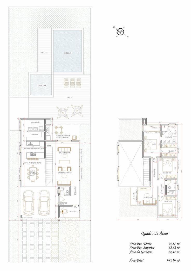 77 melhores imagens sobre planta baixa no pinterest for Casa moderna de 7 00m x 15 00m