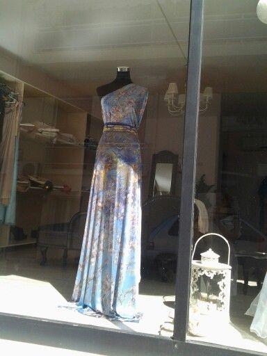 Silk jersey maxi dress.