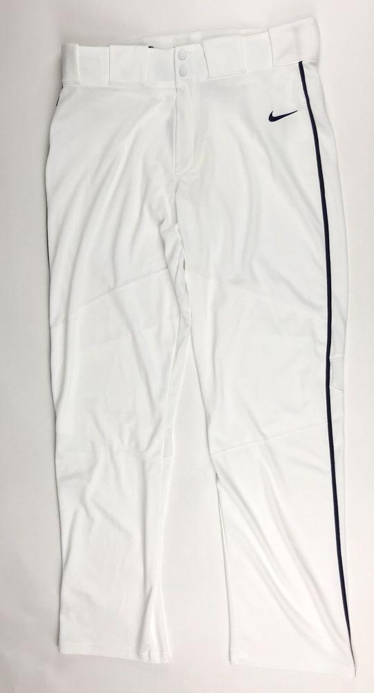 d949d22806c8 New Nike Men s L Vapor Pro White Pant Navy Piped Baseball Pants  45 747226