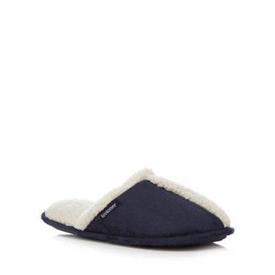 Totes Navy mule slippers- | Debenhams
