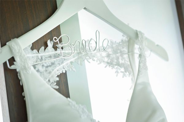 Featuring Bride Wedding Hanger White | Image - AJ Moller